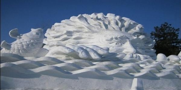 Stunning Snow Sculptures